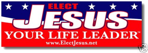Elect Jesus Sticker - undated - contrast